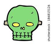 cartoon spooky skull mask | Shutterstock .eps vector #186815126