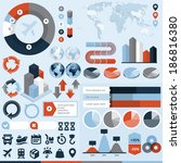 logistics infographic elements  ... | Shutterstock .eps vector #186816380