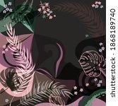 scarf floral pattern. bandana ...   Shutterstock .eps vector #1868189740