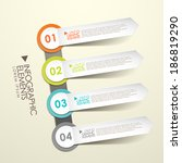 vector abstract 3d paper label...