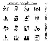 business people icon set vector ... | Shutterstock .eps vector #1868196010
