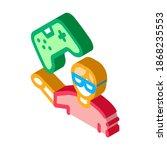 gamer gaming icon vector....   Shutterstock .eps vector #1868235553