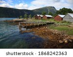Old Wooden Pier And The...