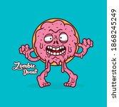 zombie donut mascot vector...   Shutterstock .eps vector #1868245249