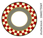 Geometric Courtly Check Plate....