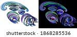 Cold Color Arcs Create Swirls...