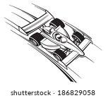 race car | Shutterstock .eps vector #186829058