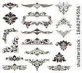 ornamental design lace borders... | Shutterstock .eps vector #1868294506