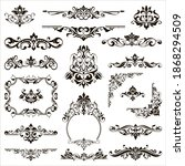 ornamental design lace borders...   Shutterstock .eps vector #1868294509