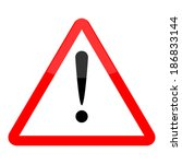 hazard warning attention sign... | Shutterstock .eps vector #186833144