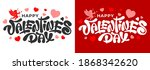 happy valentines day unusual... | Shutterstock .eps vector #1868342620