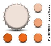 bottle caps vector  | Shutterstock .eps vector #186836210