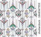 colorful hand drawn tribal...   Shutterstock .eps vector #1868367553
