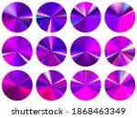 round metallic gradient ui... | Shutterstock .eps vector #1868463349