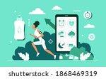 cardio sport training workout ... | Shutterstock .eps vector #1868469319
