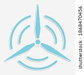 flat icon a propeller renewable ...   Shutterstock .eps vector #1868470456