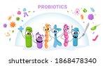 funny characters probiotics...   Shutterstock .eps vector #1868478340