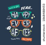 happy ever after in colorful...   Shutterstock .eps vector #1868488453