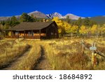 a country cabin in colorado... | Shutterstock . vector #18684892