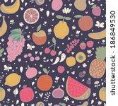 tasty seamless pattern in dark... | Shutterstock .eps vector #186849530