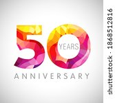 50 th anniversary numbers. 50... | Shutterstock .eps vector #1868512816