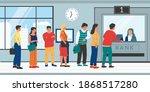 bank queue. cartoon people... | Shutterstock .eps vector #1868517280