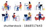 business characters working.... | Shutterstock .eps vector #1868517643