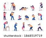 Photographers. Cartoon Young...