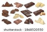 dark and milky chocolate pieces.... | Shutterstock .eps vector #1868520550