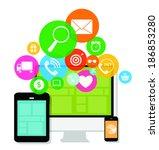 cloud computing concept on...   Shutterstock . vector #186853280