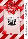 valentine's day love banner... | Shutterstock .eps vector #1868536966
