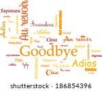goodbye | Shutterstock .eps vector #186854396