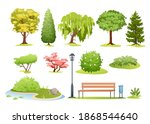 forest and park trees vector... | Shutterstock .eps vector #1868544640