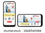 online delivery service vector...
