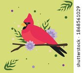 colorful bird vector drawing ...   Shutterstock .eps vector #1868561029