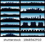 cityscape silhouette background ... | Shutterstock .eps vector #1868562910
