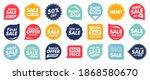 set of sale badges. sale... | Shutterstock .eps vector #1868580670