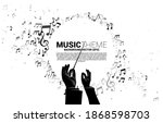 Vector Silhouette Of Conductor...