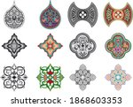 set of 16 colorful tiles... | Shutterstock .eps vector #1868603353