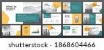 modern minimalistic powerpoint... | Shutterstock .eps vector #1868604466
