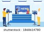 couple of multiracial news... | Shutterstock .eps vector #1868614780