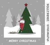 Santa Claus Elf Decorates A...