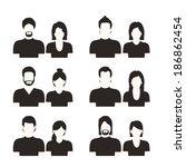 social network design over... | Shutterstock .eps vector #186862454