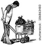 scavenger   Shutterstock . vector #186863483