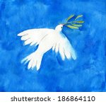 White Dove With Green Branch...