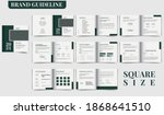brand guideline template square ... | Shutterstock .eps vector #1868641510