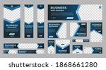 set of business web banners... | Shutterstock .eps vector #1868661280