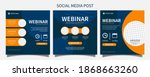 set webinar social media post... | Shutterstock .eps vector #1868663260
