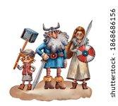 Cartoon Illustration Of Viking...