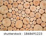 Pile Of Naturial Log Round Teak ...